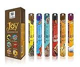 Joy serie Premium naturale Incenso - 20 bastoncini per confezione - usarlo a casa o sul posto di lavoro - Seducenti Aroma Sticks - Confezione da 6 bastoni profumo Crea tranquilla Aura All Around