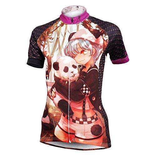 nouvelles femmes de style vélo à séchage rapide vélo Maillot manches courtes Panda-Jersey Only