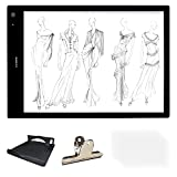 Huion A3 Size Lightness Adjustable Built-in Battery USB Cable LED Portable Drawing Tracing Stencil Board Tattoo Light Box (LB3H)