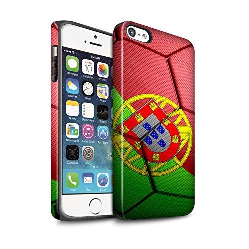 STUFF4 Matte Harten Stoßfest Hülle / Case für Apple iPhone 6+/Plus 5.5 / Frankreich Muster / Fußball Nationen Kollektion Portugal