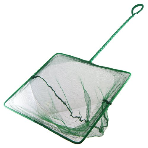 sourcingmap® 27,9cm Tiefe grün Nylon Metallgriff Aquarium Fisch Garnelen Net
