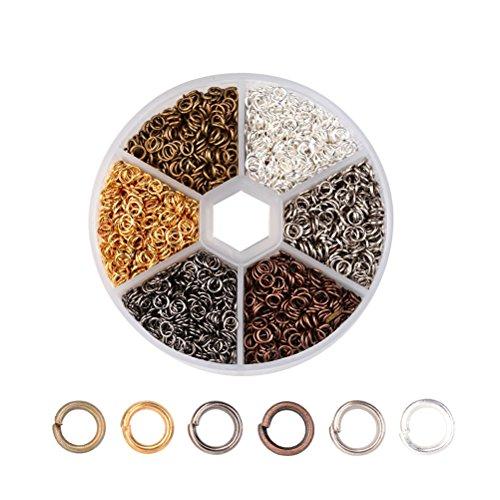 healifty geschlossen Jump Ringe Anschluss Ergebnisse für Heimwerker, Schmuckherstellung (verschiedene Farben) (Jump-ring-schmuck)