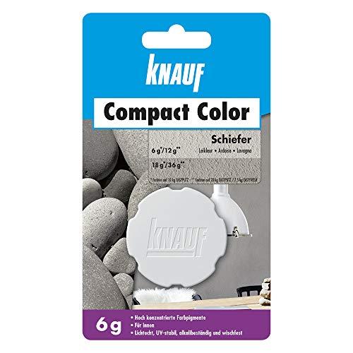 Knauf Compact Colors Farb-Pigmente - Pigment-Pulver zum Einfärben von Putz, nicht staubend, hoch konzentriert und wischfest, Schiefer, 6-g