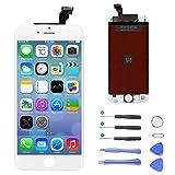 """NzamBles iPhone 6 Écran LCD Display, Écran LCD Assemblée Compatible pour iPhone 6 Blanc Remplacement Kit de Réparation avec Outils (4.7"""" Blanc)"""