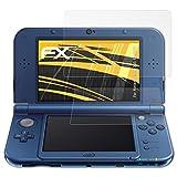 atFoliX Schutzfolie für Nintendo New 3DS XL (2015) Displayschutzfolie - 3er Set FX-Antireflex blendfreie Folie