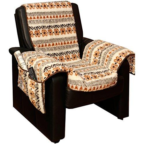 Sesselschoner Lammflor Sesselauflage Sesselbezug Sessel-Überwurf Landhaus bunt