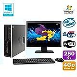 HP Lot PC Elite 8100 SFF G6950 2,8 GHz 4Go 250Go Wifi Graveur W7 Pro Ecran 17'