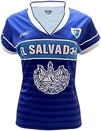 El Salvador Slim Mujer Soccer Jersey diseño exclusivo