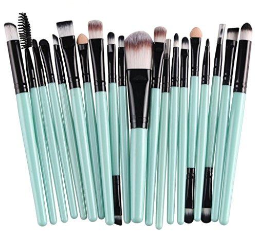 Bigood Pinceaux Maquillage Professionnel 20Pcs Brosse Sourcil Cosmétique Outils