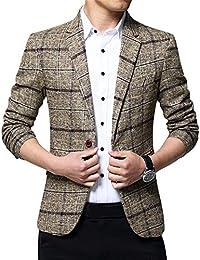 ZiXing Giacca Blazer Elegante Uomo Slim Fit Vintage Formale da Sera f8d92d4bfbe