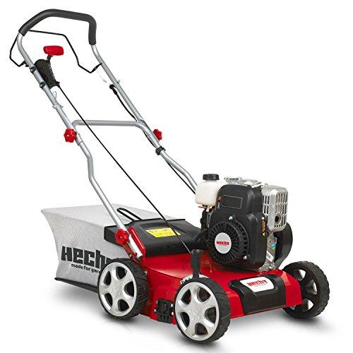 HECHT Benzin-Vertikutierer 5641 Rasen-Lüfter Motorvertikutierer (2,5 kW (3,4 PS), 40 cm Arbeitsbreite, 6-fache zentrale Höhenverstellung, 45 Liter Fangkorb, Waslze: 18 Messer)