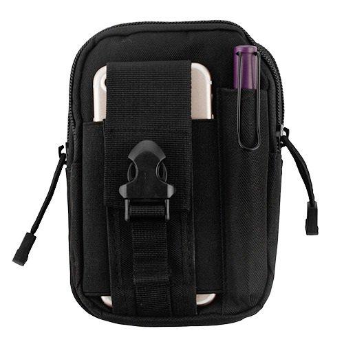 Wydan Universal Tactical MOLLE Tasche Kompaktes EDC Utility Gadget Taille Tragetasche Pack mit Handy Holster Schutzhülle für iPhone & Galaxy Handys-Verschiedenen Farben, Schwarz -
