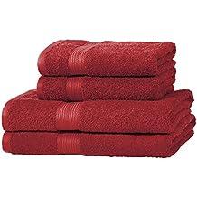 AmazonBasics - Set di 2 asciugamani da bagno e 2