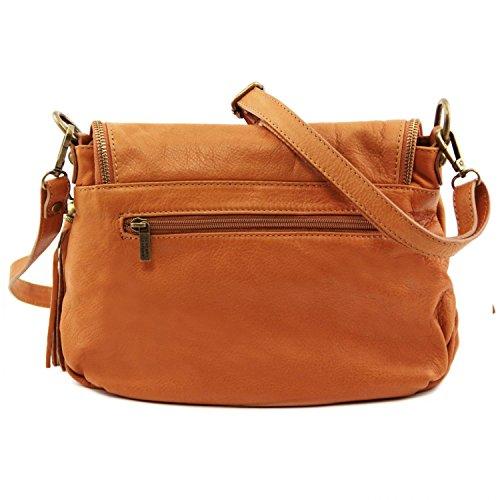 Tuscany Leather - TL Bag - Borsa morbida a tracolla con nappa Cognac - TL141223/6 Rosso