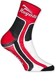 Rogelli Kid 's RCS calcetines, calcetines, Infantil, color rojo, negro y blanco, tamaño Size 27 - 30
