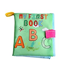 Amazemarket Non-Toxic Fabric Toys Baby Soft Cloth Book Appease Funny Puzzle Story Early Educational Learning Letters/Shapes/Animals/Numbers Cognitive Developmental (alphabet)