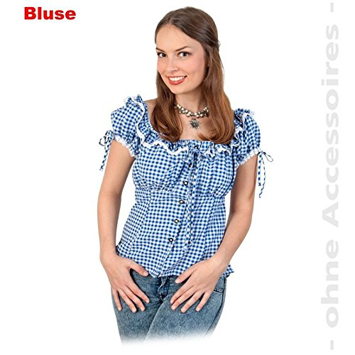 Gurimo-tex Bayernbluse blau/weiss kariert 42 (106884) NEU