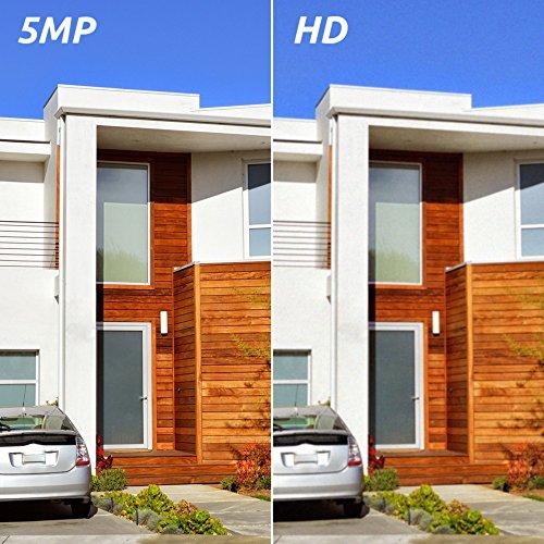 Reolink 2 Stück 5MP IP Kamera PoE Überwachungskamera Outdoor mit Audio, SD Kartensteckplatz, Bewegungserkennung, Fernzugriff und IP66 Wasserfest für Aussen, Innen, Haus Sicherheit RLC-410-5MP