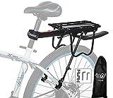 Portaequipajes trasero de aluminio para bicicleta - Ideal para practicar ciclismo