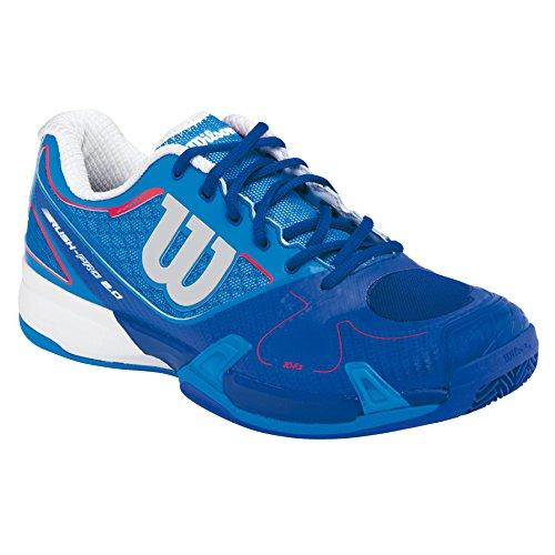 Wilson Unisex-Erwachsene Rush Pro 2.0 Clay Court Neptune Turnschuhe Blau / Weiß