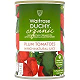 400 g de tomates ciruela orgánica Waitrose