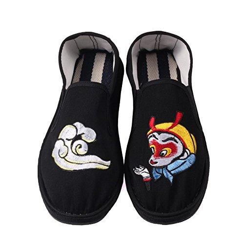 LvYuan Unisex chinesische traditionelle Tuchschuhe / beiläufige Retro Atmen Sie Stickereischuhe / Kung Fu Schuhe / Kampfkünste / Beleg-auf Schuhe 2#