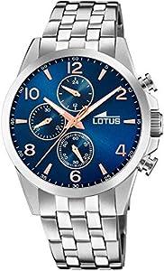 Lotus Reloj Cronógrafo para Hombre de Cuarzo con Correa en Acero Inoxidable 18629/2