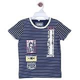 Chimprala Boys Cotton Half Sleeves Round Neck Royal Blue Print Striped t shirts for boys Amazon