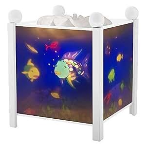 Trousselier - Poisson Arc en Ciel - Rainbow Fish - Veilleuse - Lanterne Magique - Blanc