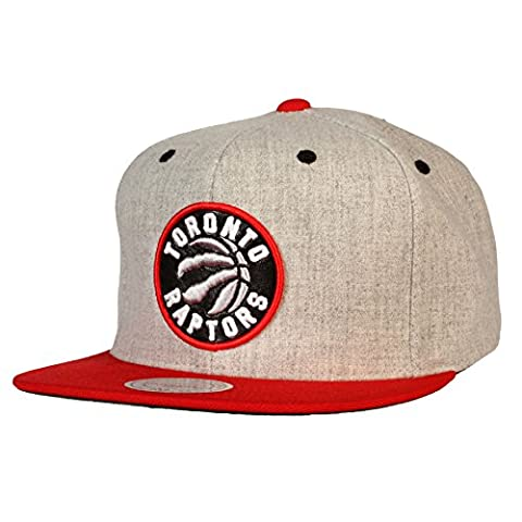 Toronto Raptors Mitchell & Ness Current Logo NBA Flannel Snapback Cap - Size One Size/Adjustable