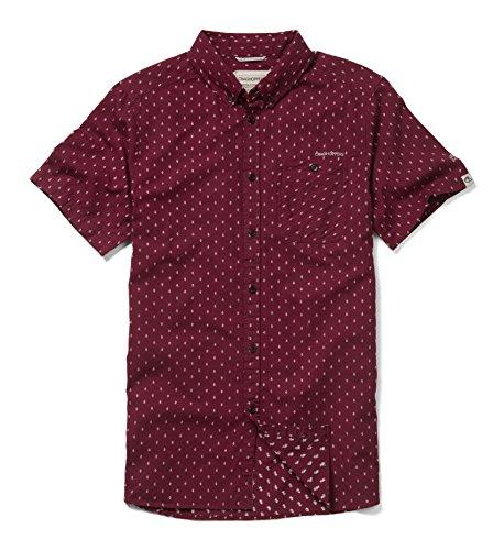 Craghoppers Herren Outdoor Reise Edmond Kurzarm Hemd Brick Red Dobby, M - Dobby Kurzarm-shirt