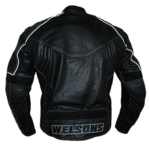 Protectwear WMB-303 Motorrad - Lederjacke,Größe : 60, schwarz - 2