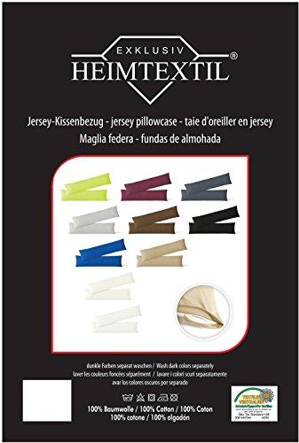 Kissenbezug Stillkissenhülle Seitenschläferkissenbezug 2er Set Sparpack Kissenhüllen mit Reißverschluss in 10 Farben hochwertige Jersey Qualität 150g/m² 100% Baumwolle ÖKO-TEX 40×145 cm anthrazit - 3