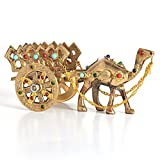 #1: Little India Gemstone Studded Pure Brass Camel Handicraft (184, Brown)