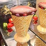 Dana Carrie Keramiktasse Mode Liebhaber Cup Dessert Cup Eisbecher kreative kaltes Getränk Tassen, Rosa