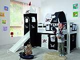 Hochbett »ALEX« aus massiver Buche mit Rutsche