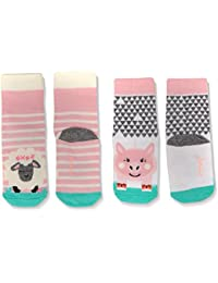 Tom Joule Baby-Mädchen Socken Neat Feet, 2er Pack