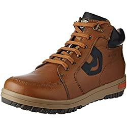 Red Chief Men's Glassy Tan Leather Boots - 8 UK/India (42 EU)(RC3405 287)