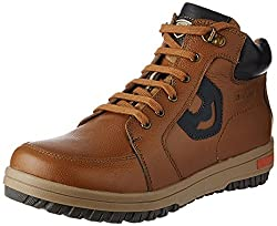 Red Chief Mens Glassy Tan Leather Boots - 6 UK/India (39 EU)(RC3405 287)