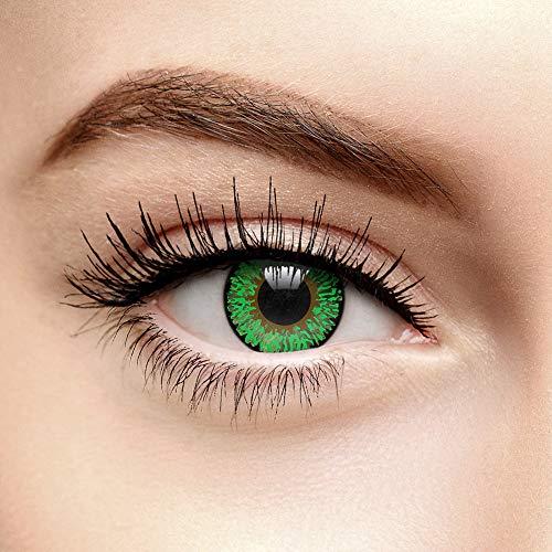 Coloured Contacts Farbige Kontaktlinsen Ohne Stärke Tri Tone Grün (Tageslinsen)