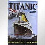 Deko, Kunst, Comic, Celebs, Zeitgeschichte Réplique publicitaire Affiche Wolf Titanic