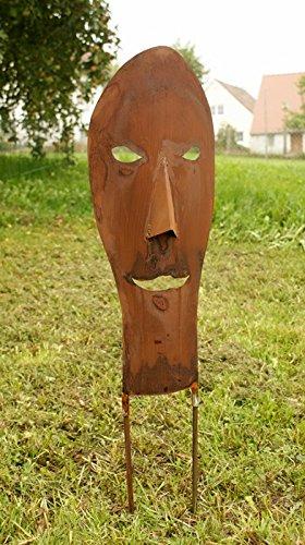 Maske Rostsäulen Gartendeko Maske kleinste*