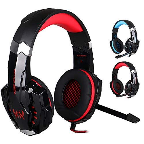 Balock Schuhe Balock Schuhe Kopfmontage Headset,Stereo-Gaming-Kopfhörer Computerspiel-Headset Mit Rotem LED-Licht