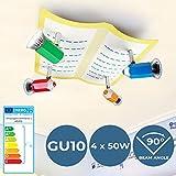 Lámpara Infantil de Techo - CEE: A++ a E, GU10, con Lápices, 4 flama, 30x29x13 cm, Moderna - Luz...