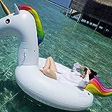 MON5F Home Oversized Wasser aufblasbare Montierung schwebende Bett schwimmende Reihe Erwachsenen Einhorn Schwimmen Ring 275 cm