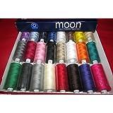 Coates Moon Asst Dark 120s Sewing Machine Polyester Thread Cotton1000 Yards