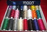 Coats Moon Asst Dark 120s Sewing Machine Polyester Thread Cotton1000 Yards