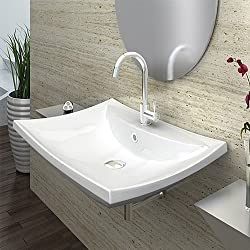 MODERN DESIGN LAVABO CAPRISE DA APPOGGIO 59x44x16cm LAVANDINO
