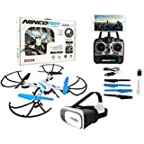 Drone radiocontrol con cámara modelo Quadrone Sport Wifi FPV + Gafas VR. Pilota como si estuvieras dentro del drone