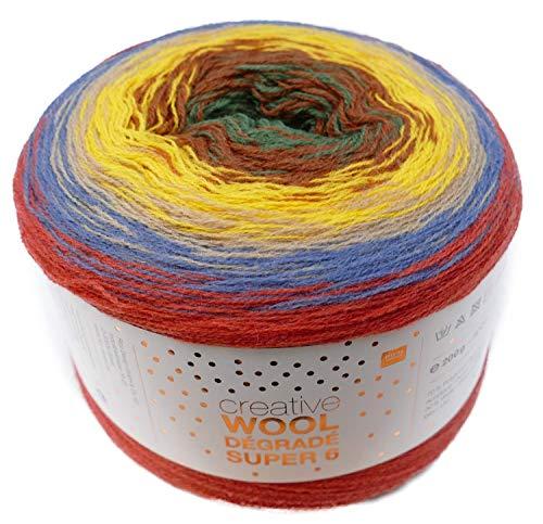 200g bobbel CON UNA DISCRETA Gradiente 800m Hilo degradado de color aprox Rico Creative bobbel algod/ón D/égrad/é Color 003